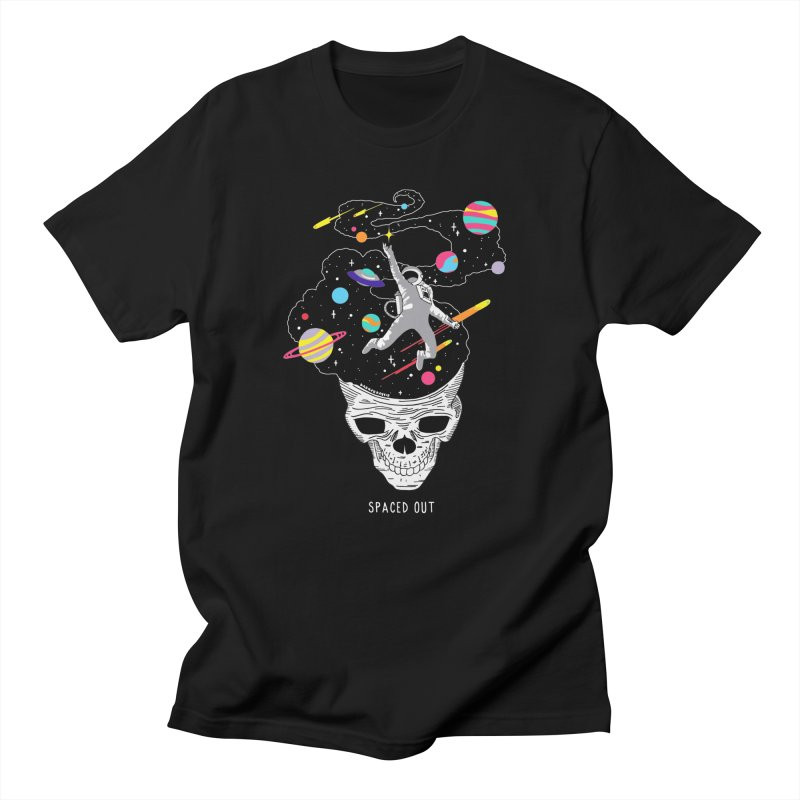 Spaced Out in Men's Regular T-Shirt Black by DARKER DAYS