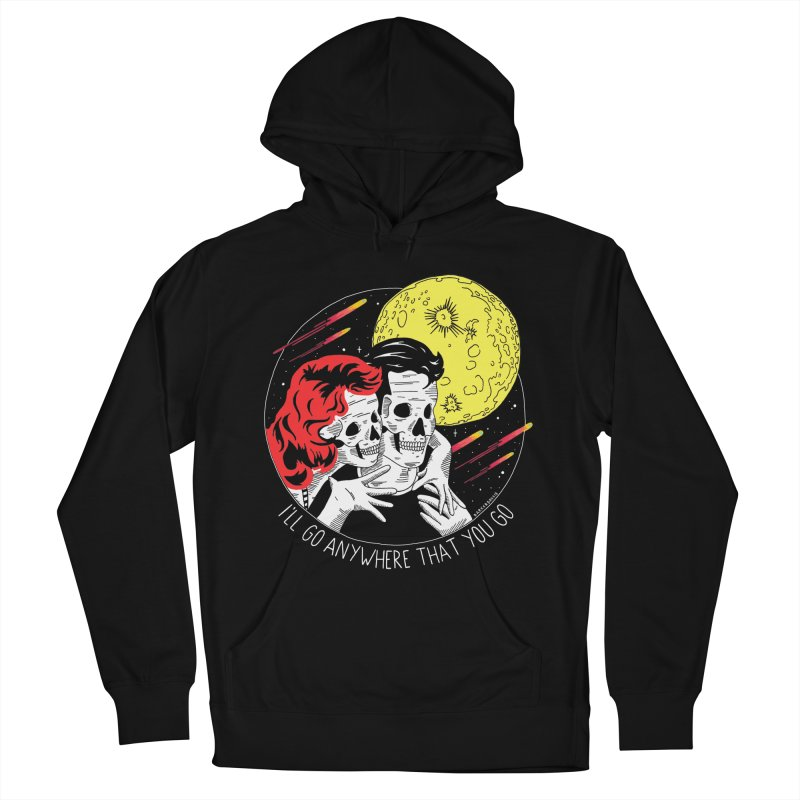 Anywhere You Go Men's French Terry Pullover Hoody by DARKER DAYS
