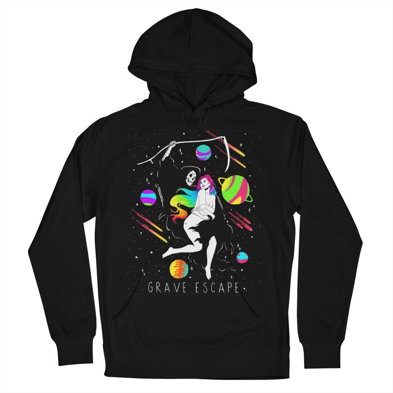 Grave Escape Men's French Terry Pullover Hoody by DARKER DAYS