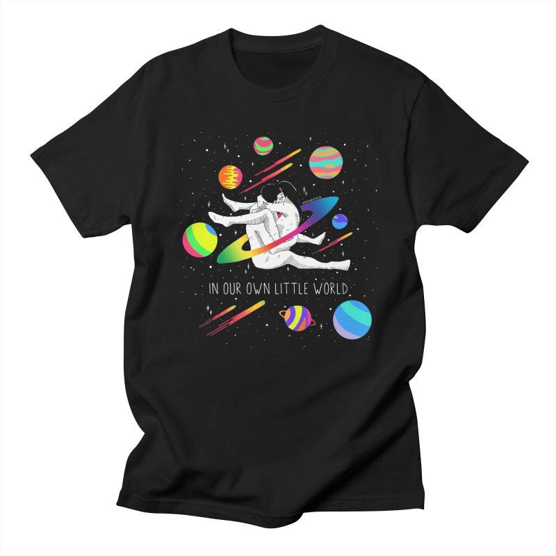 Our Own Little World in Men's Regular T-Shirt Black by DARKER DAYS