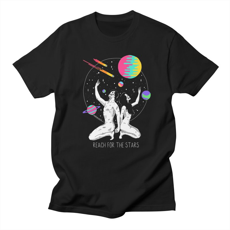 Reach For The Stars in Men's Regular T-Shirt Black by DARKER DAYS
