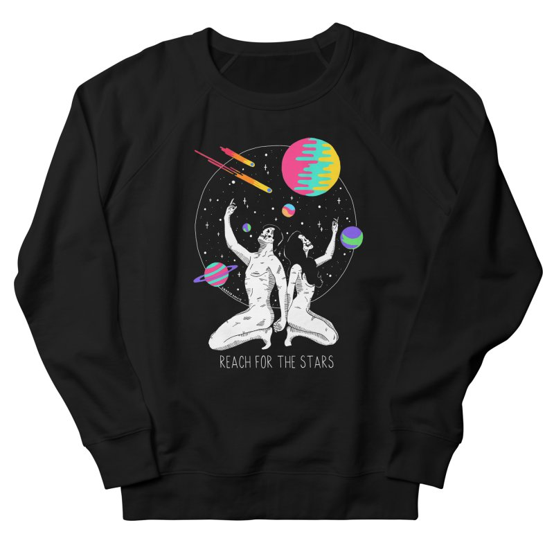 Reach For The Stars Men's French Terry Sweatshirt by DARKER DAYS