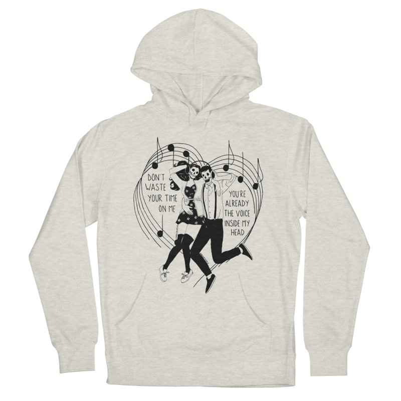 The Voice Inside My Head Men's French Terry Pullover Hoody by DARKER DAYS