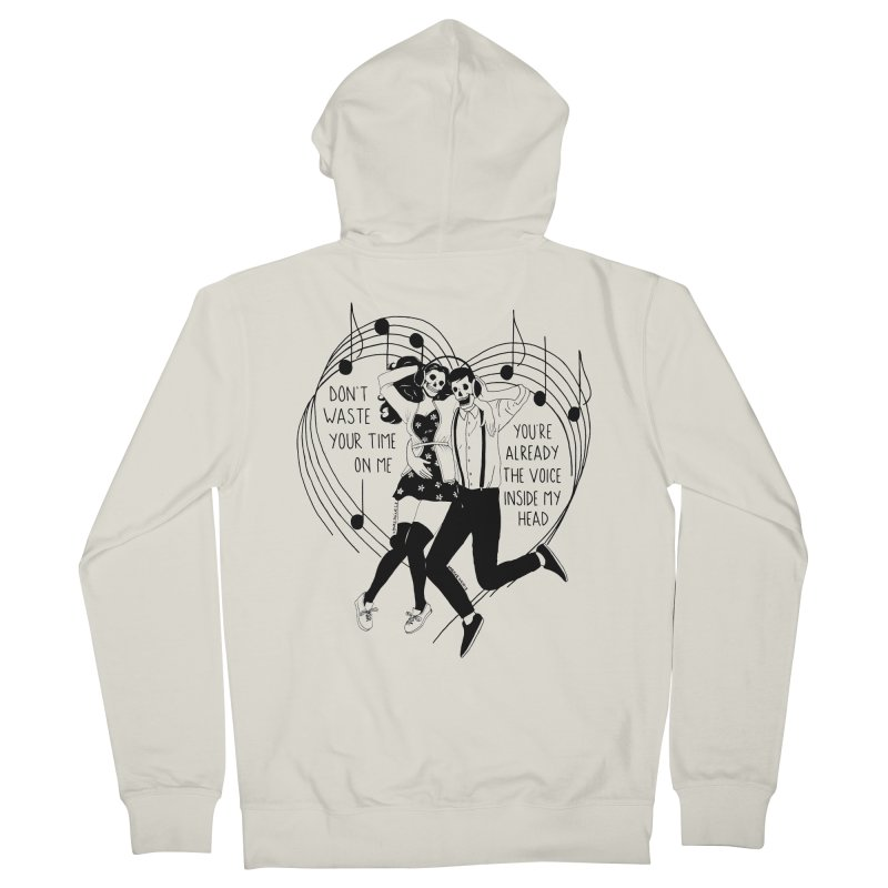 The Voice Inside My Head Men's French Terry Zip-Up Hoody by DARKER DAYS