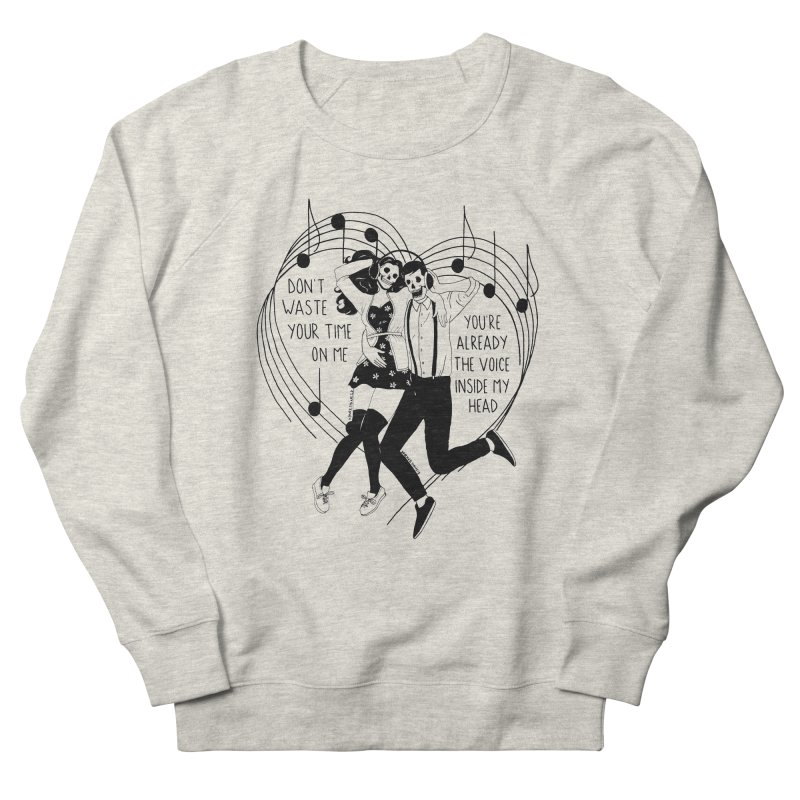 The Voice Inside My Head Men's French Terry Sweatshirt by DARKER DAYS
