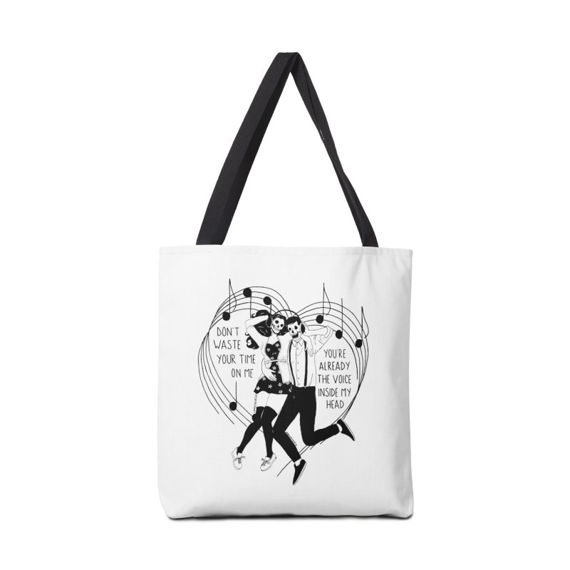 The Voice Inside My Head Accessories Tote Bag Bag by DARKER DAYS
