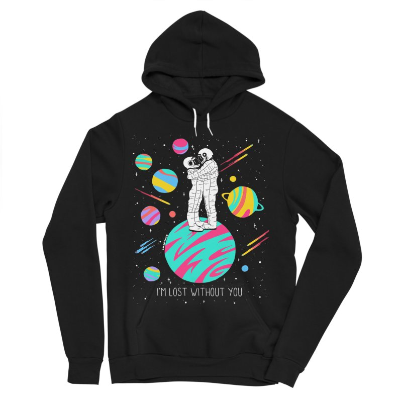 Lost Without You Women's Sponge Fleece Pullover Hoody by DARKER DAYS