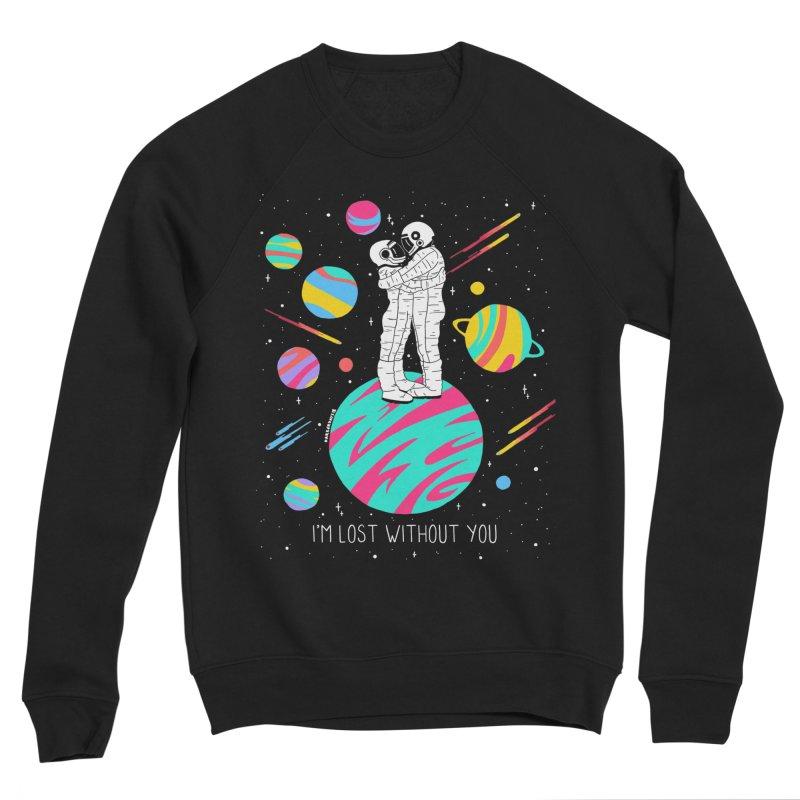 Lost Without You Men's Sponge Fleece Sweatshirt by DARKER DAYS