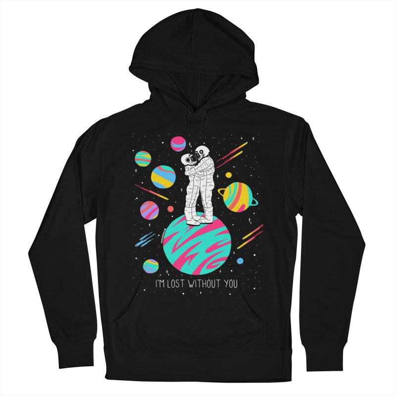 Lost Without You Men's French Terry Pullover Hoody by DARKER DAYS