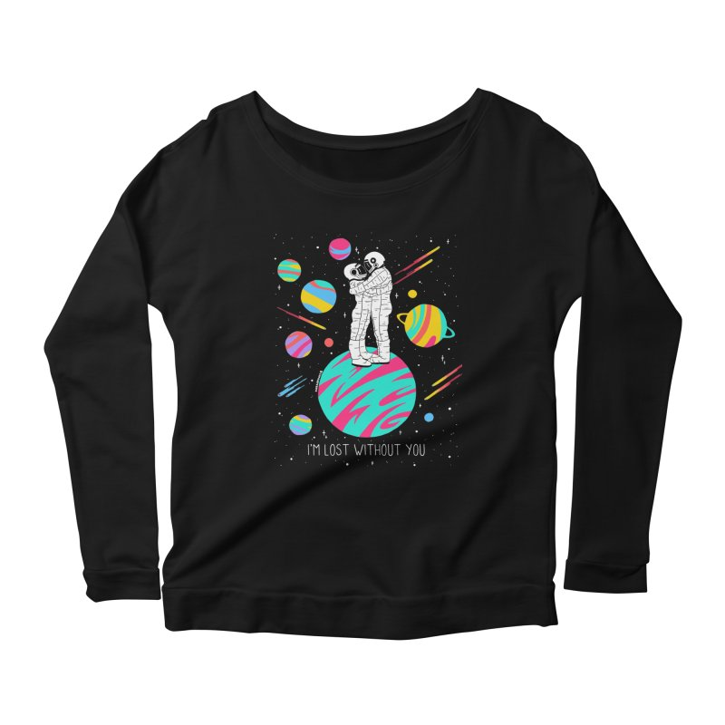 Lost Without You Women's Scoop Neck Longsleeve T-Shirt by DARKER DAYS