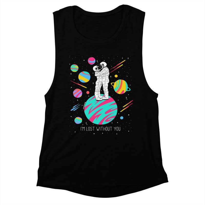 Lost Without You Women's Muscle Tank by DARKER DAYS
