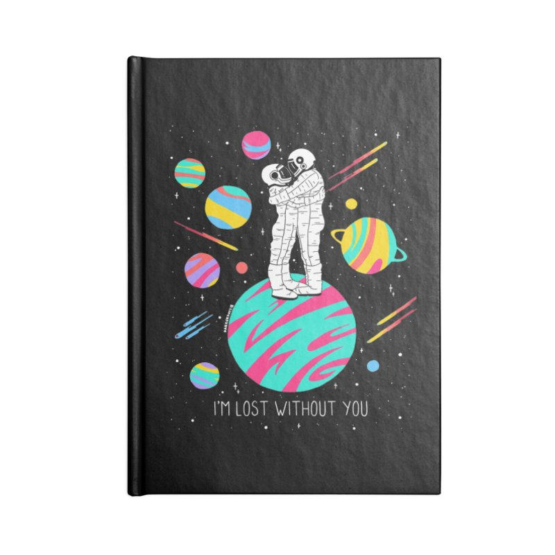 Lost Without You Accessories Lined Journal Notebook by DARKER DAYS