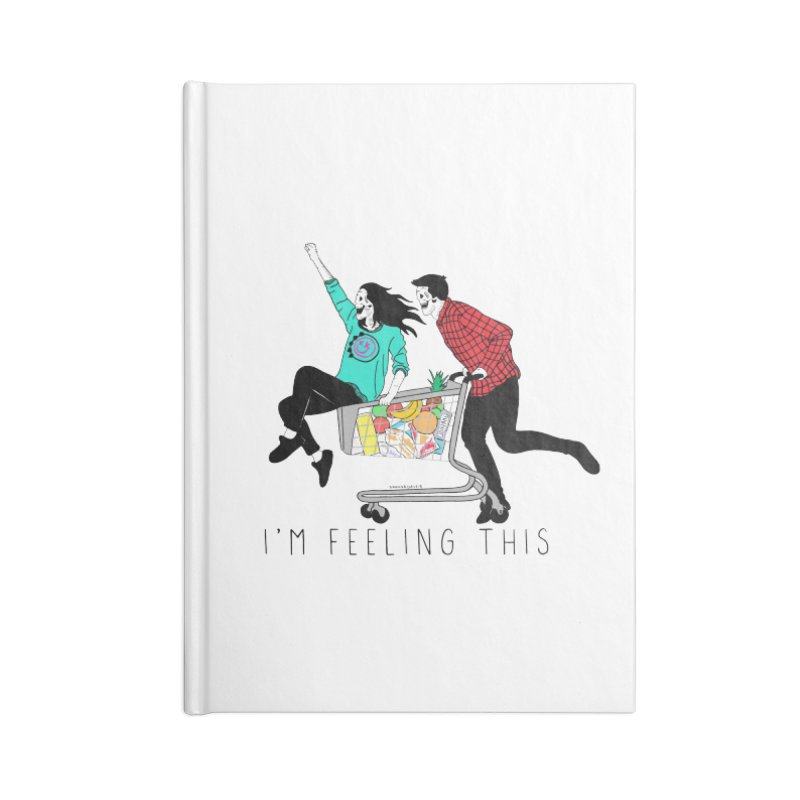 Feeling This Accessories Blank Journal Notebook by DARKER DAYS
