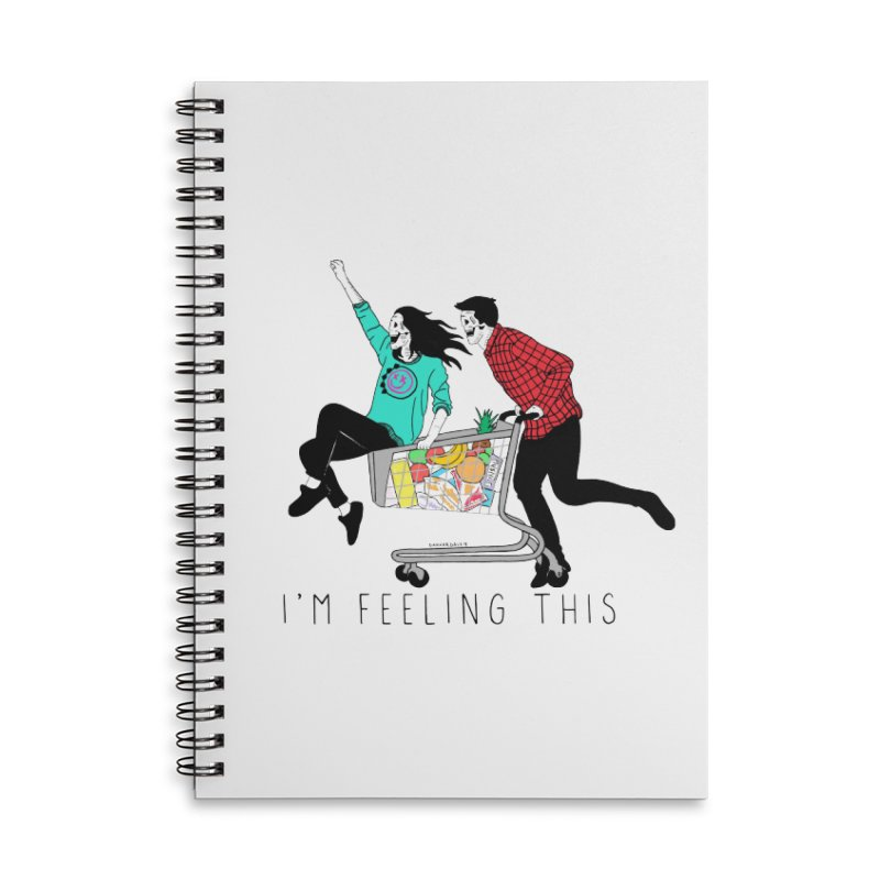 Feeling This Accessories Lined Spiral Notebook by DARKER DAYS
