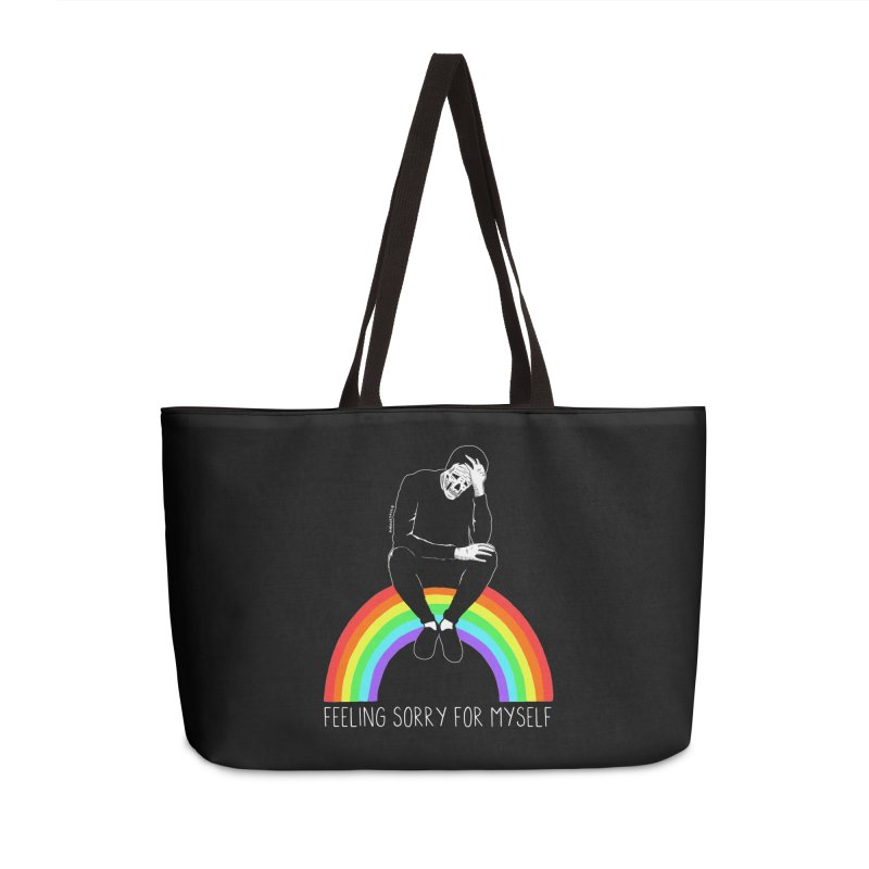 Feeling Sorry For Myself Accessories Weekender Bag Bag by DARKER DAYS