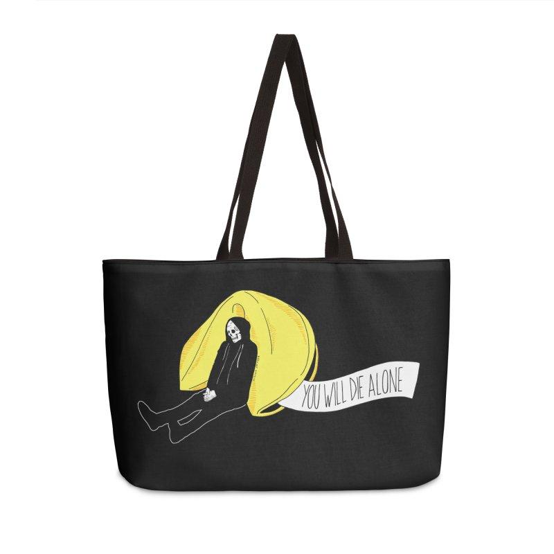 Die Alone Accessories Weekender Bag Bag by DARKER DAYS