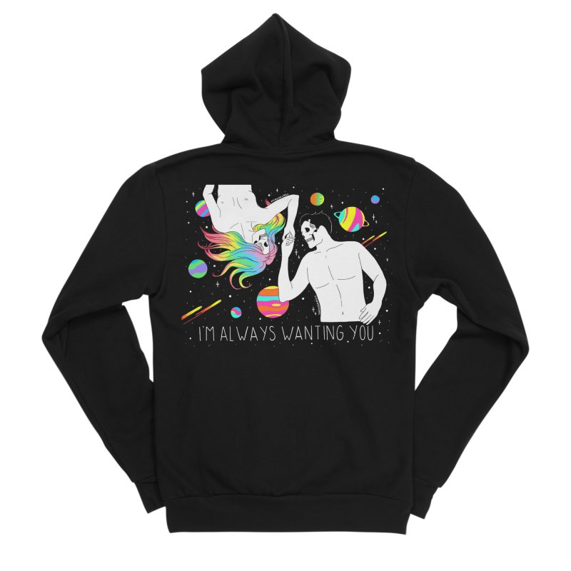 I'm Always Wanting You Women's Sponge Fleece Zip-Up Hoody by DARKER DAYS