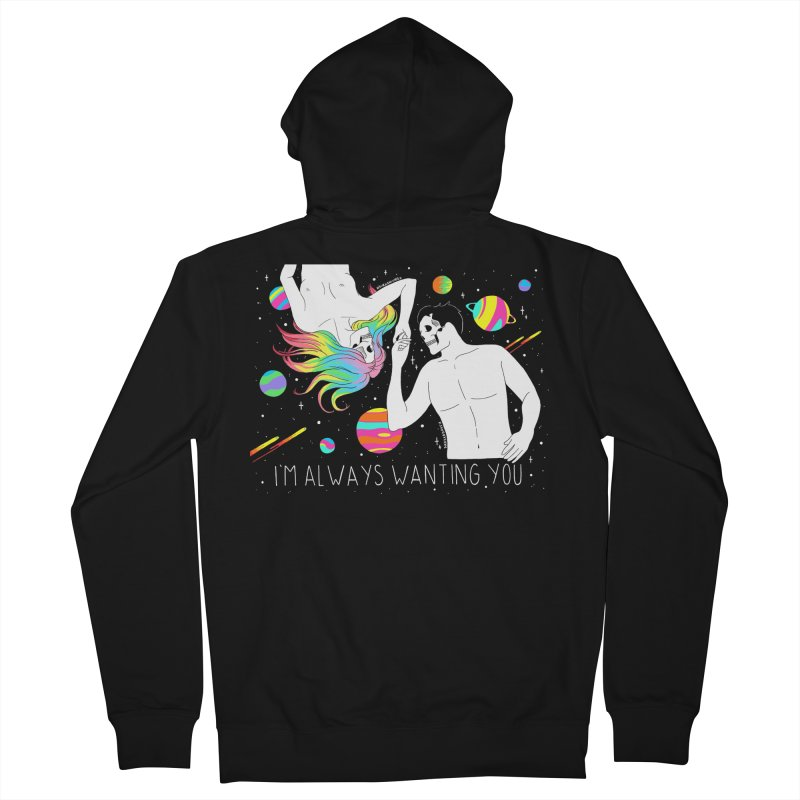 I'm Always Wanting You Men's French Terry Zip-Up Hoody by DARKER DAYS
