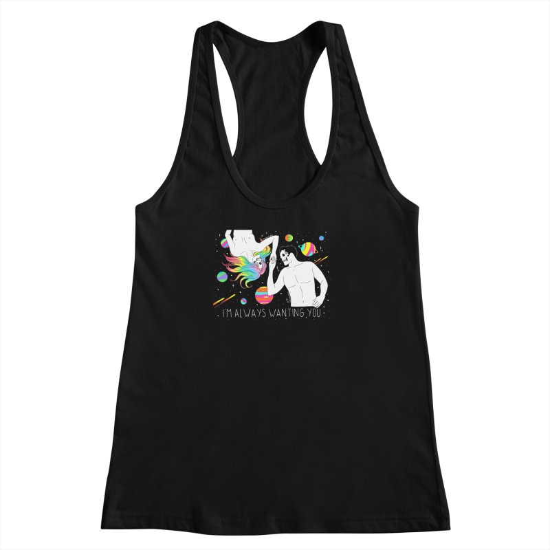 I'm Always Wanting You Women's Racerback Tank by DARKER DAYS