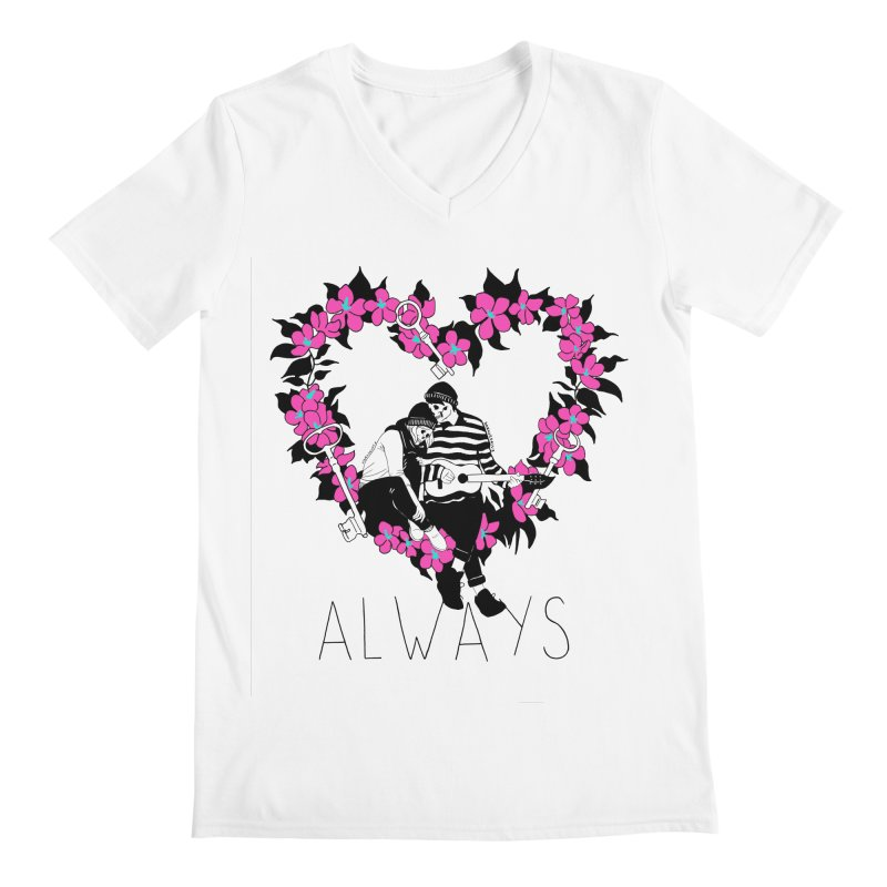 Always Men's Regular V-Neck by DARKER DAYS