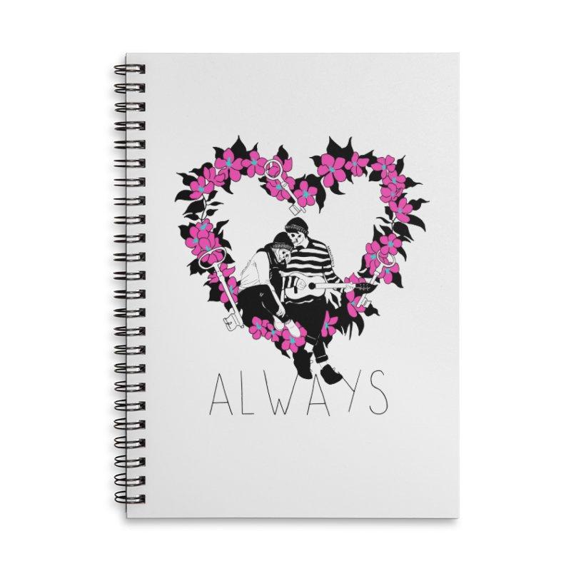 Always Accessories Lined Spiral Notebook by DARKER DAYS