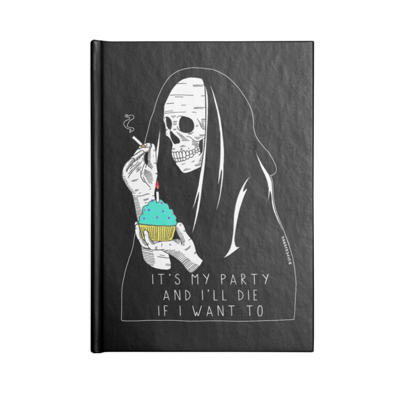 It's My Party Accessories Blank Journal Notebook by DARKER DAYS