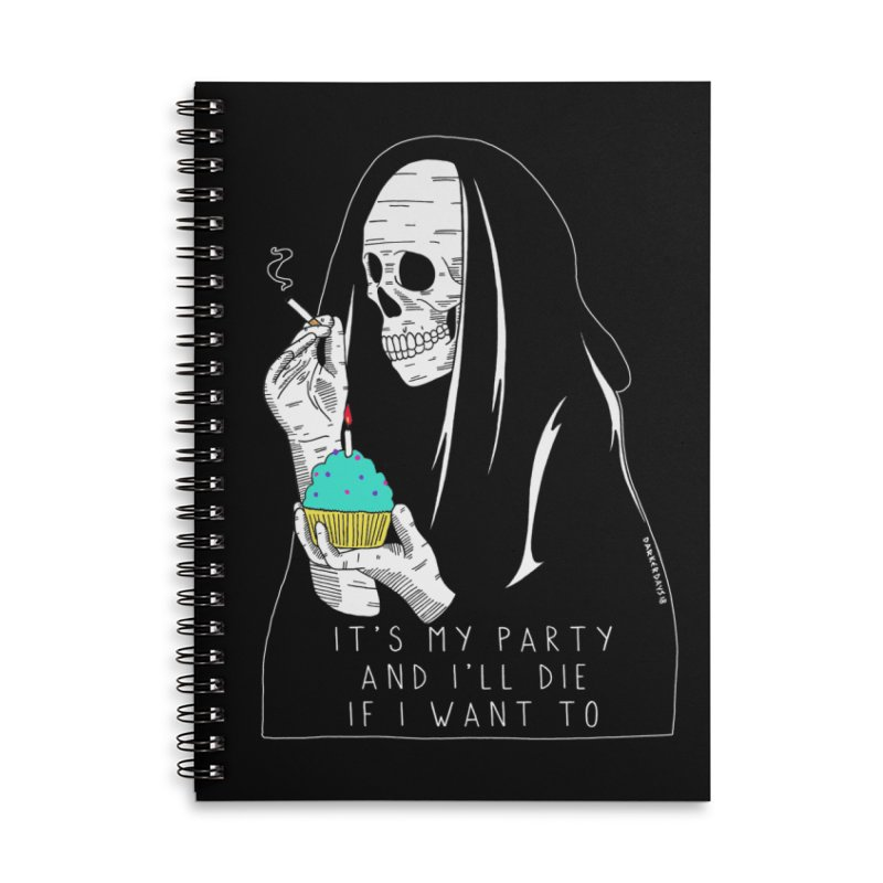 It's My Party Accessories Lined Spiral Notebook by DARKER DAYS