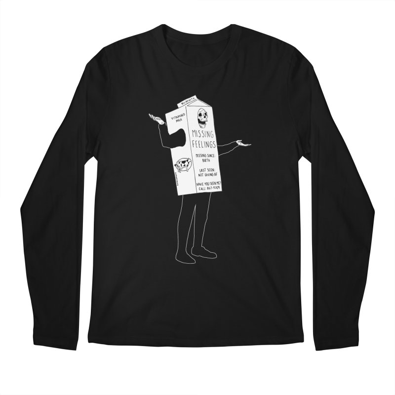 Missing Feelings Men's Regular Longsleeve T-Shirt by DARKER DAYS