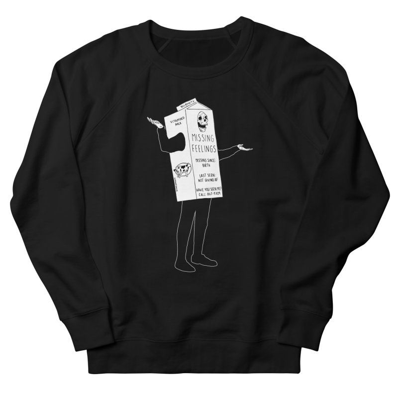 Missing Feelings Men's French Terry Sweatshirt by DARKER DAYS