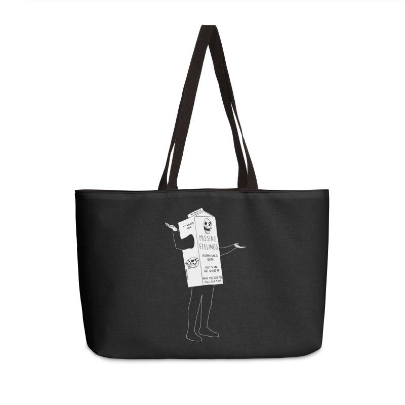Missing Feelings Accessories Weekender Bag Bag by DARKER DAYS