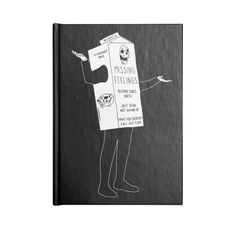 Missing Feelings Accessories Blank Journal Notebook by DARKER DAYS