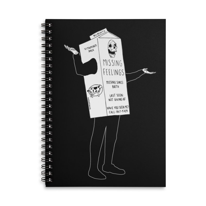 Missing Feelings Accessories Lined Spiral Notebook by DARKER DAYS