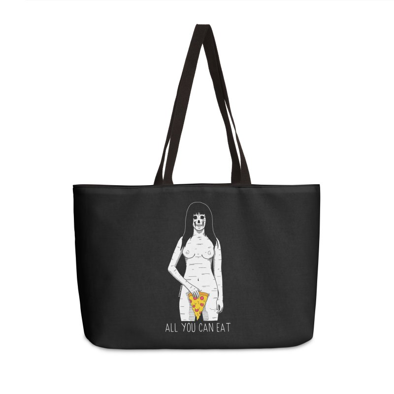All You Can Eat Accessories Weekender Bag Bag by DARKER DAYS