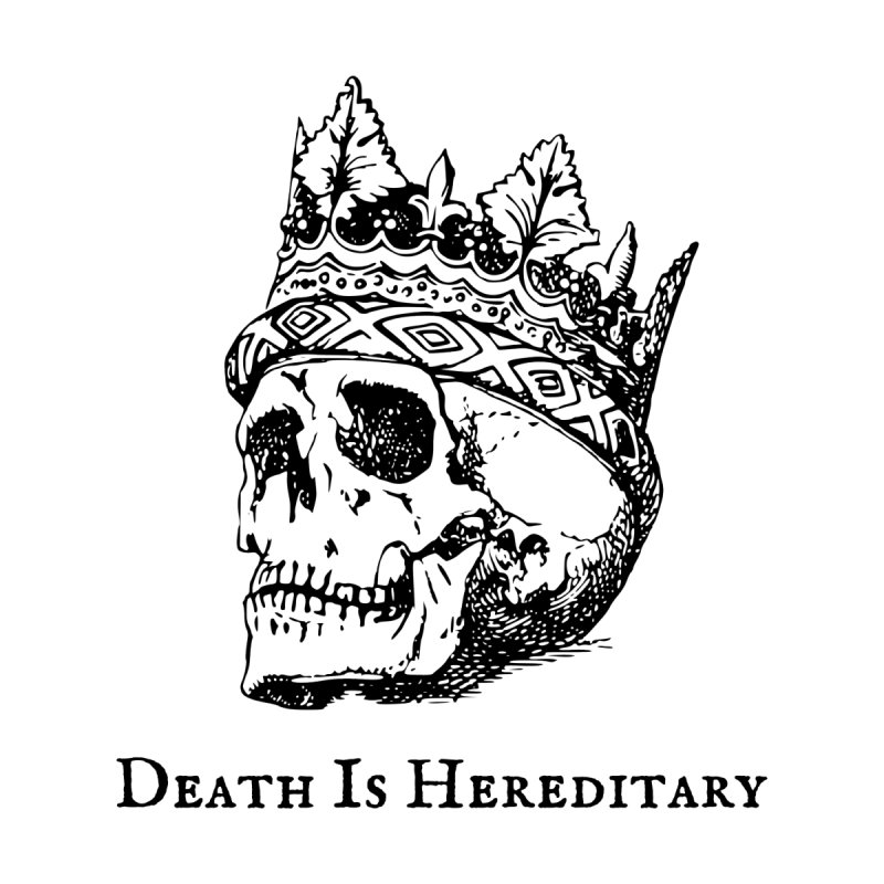 Death Is Hereditary (Black Ink) Home Framed Fine Art Print by Dark Helix's Artist Shop