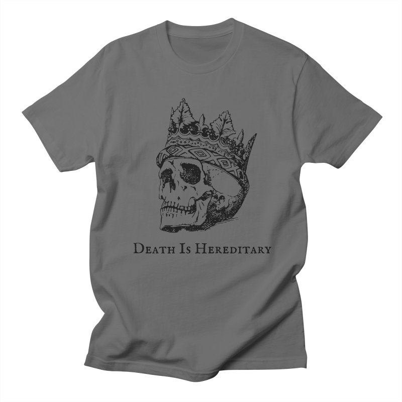 Death Is Hereditary (Black Ink) Men's T-Shirt by Dark Helix's Artist Shop