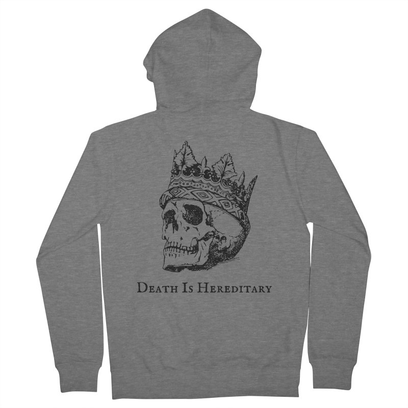 Death Is Hereditary (Black Ink) Women's French Terry Zip-Up Hoody by Dark Helix's Artist Shop