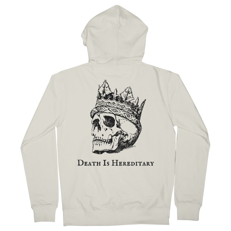 Death Is Hereditary (Black Ink) Men's French Terry Zip-Up Hoody by Dark Helix's Artist Shop