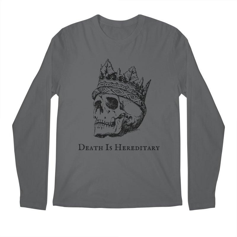 Death Is Hereditary (Black Ink) Men's Longsleeve T-Shirt by Dark Helix's Artist Shop