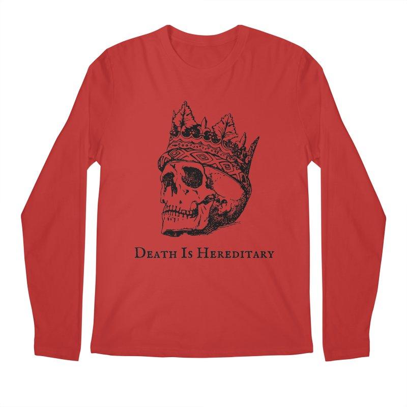 Death Is Hereditary (Black Ink) Men's Regular Longsleeve T-Shirt by Dark Helix's Artist Shop