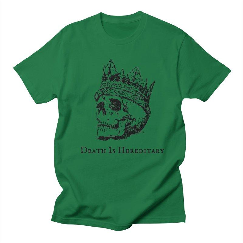 Death Is Hereditary (Black Ink) Men's Regular T-Shirt by Dark Helix's Artist Shop
