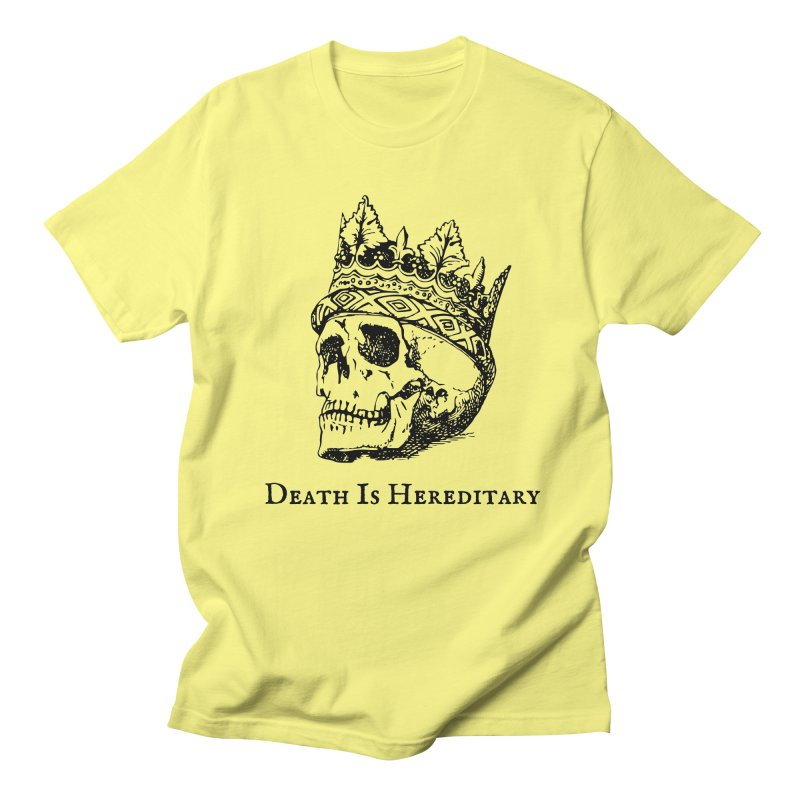 Death Is Hereditary (Black Ink) Men's T-Shirt by Dark Helix's Artist Shop