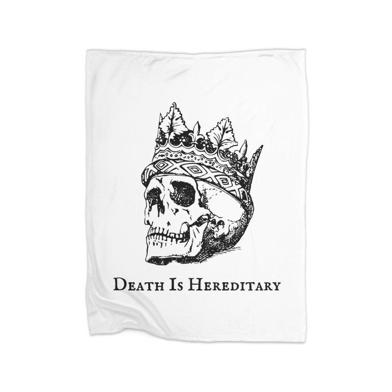 Death Is Hereditary (Black Ink) Home Blanket by Dark Helix's Artist Shop
