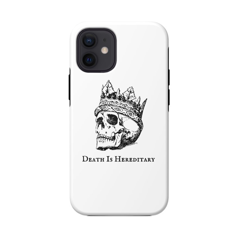 Death Is Hereditary (Black Ink) Accessories Phone Case by Dark Helix's Artist Shop
