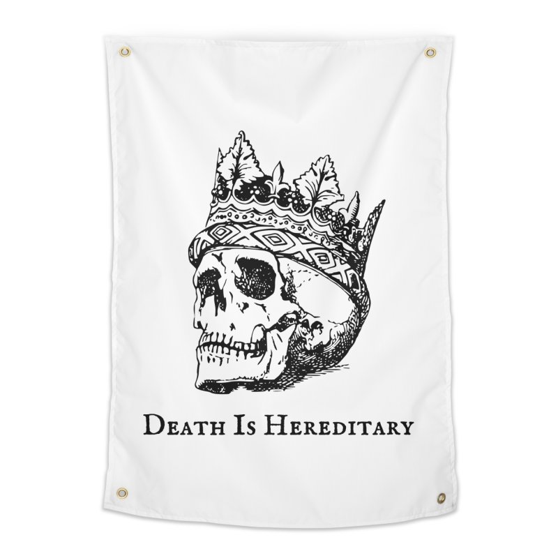 Death Is Hereditary (Black Ink) Home Tapestry by Dark Helix's Artist Shop
