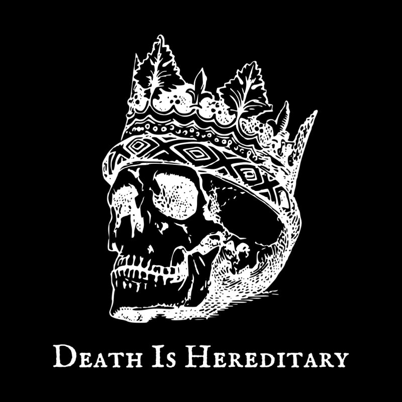 Death Is Hereditary (White Ink) Women's Pullover Hoody by Dark Helix's Artist Shop