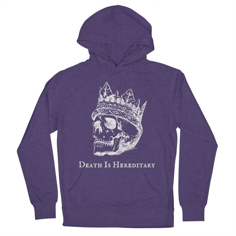 Death Is Hereditary (White Ink) Men's French Terry Pullover Hoody by Dark Helix's Artist Shop