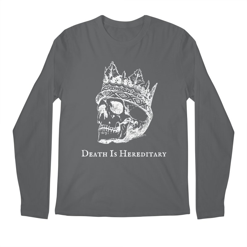 Death Is Hereditary (White Ink) Men's Longsleeve T-Shirt by Dark Helix's Artist Shop