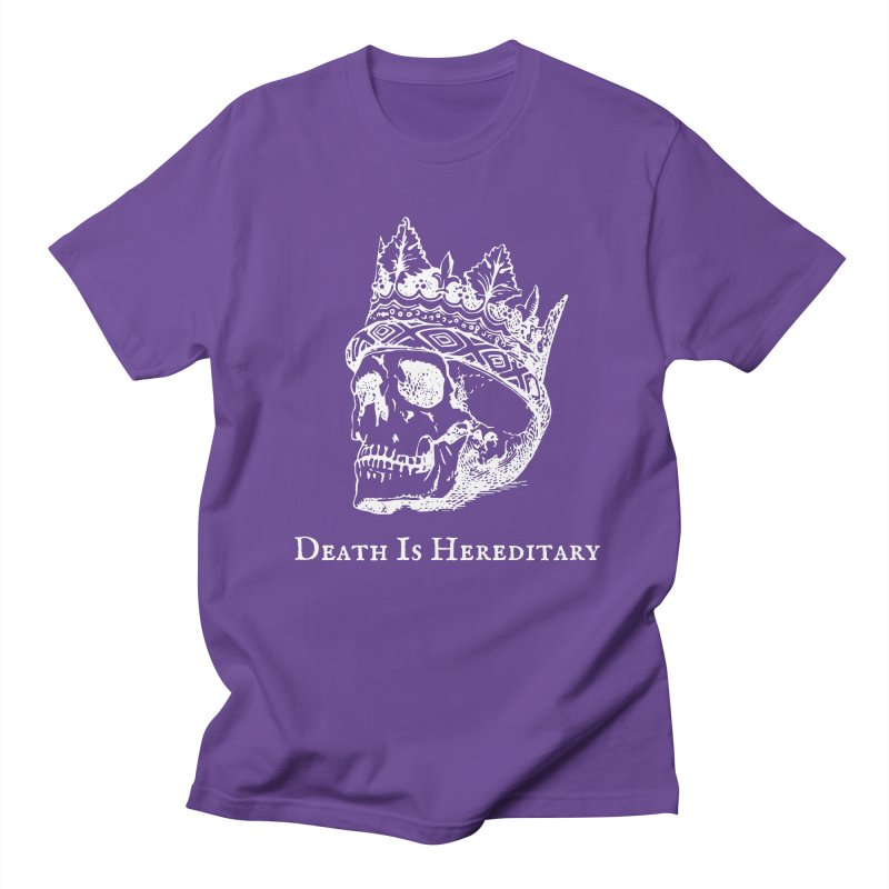 Death Is Hereditary (White Ink) Men's Regular T-Shirt by Dark Helix's Artist Shop