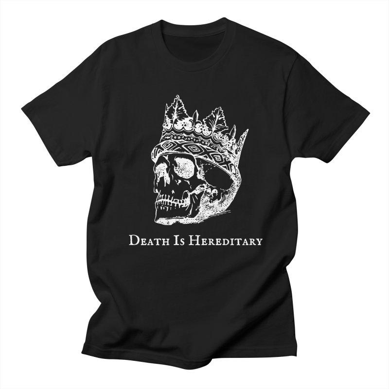 Death Is Hereditary (White Ink) Men's T-Shirt by Dark Helix's Artist Shop