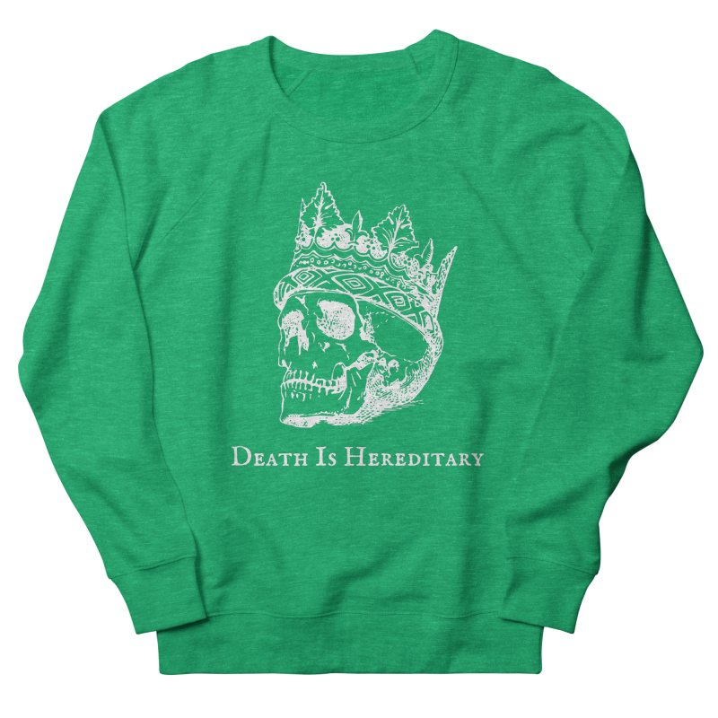 Death Is Hereditary (White Ink) Women's French Terry Sweatshirt by Dark Helix's Artist Shop